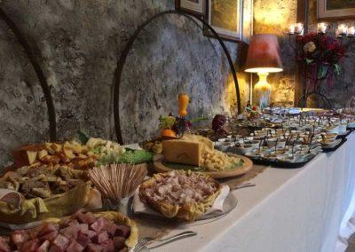 Selezioni di formaggi e prosciutti